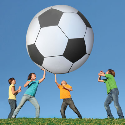 Gag Gifts - Giant Inflatable Soccer Ball