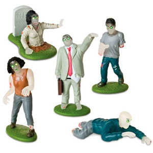 Gag Gifts - Glow-In-The-Dark Flesh Eating Zombies Playset