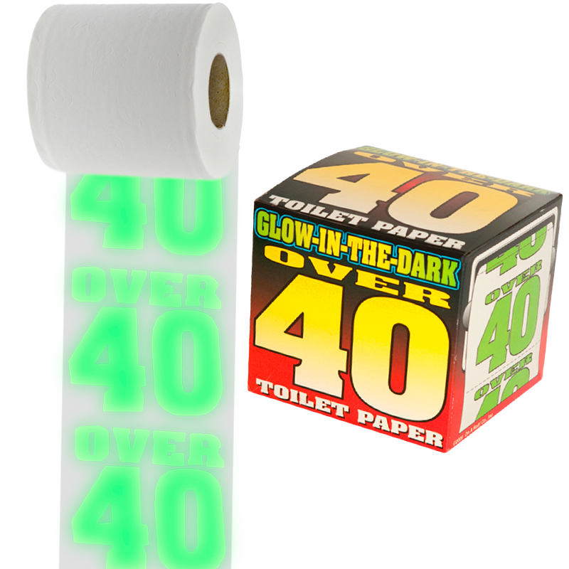 Gag Gifts - Glow in the Dark Over 40 Toilet Paper