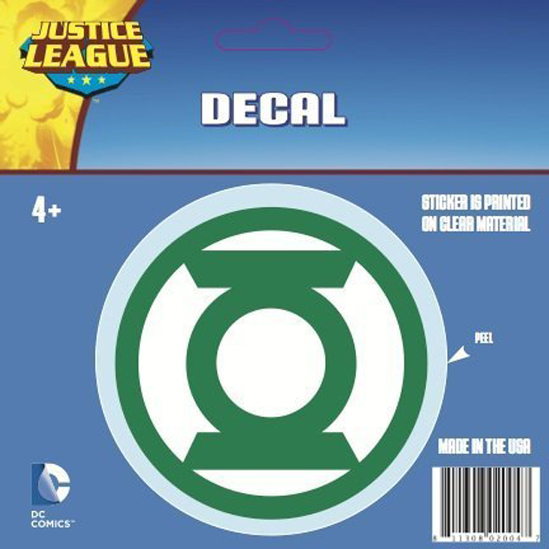 Gag Gifts - Green Lantern Logo Car Decal, Green and White Only