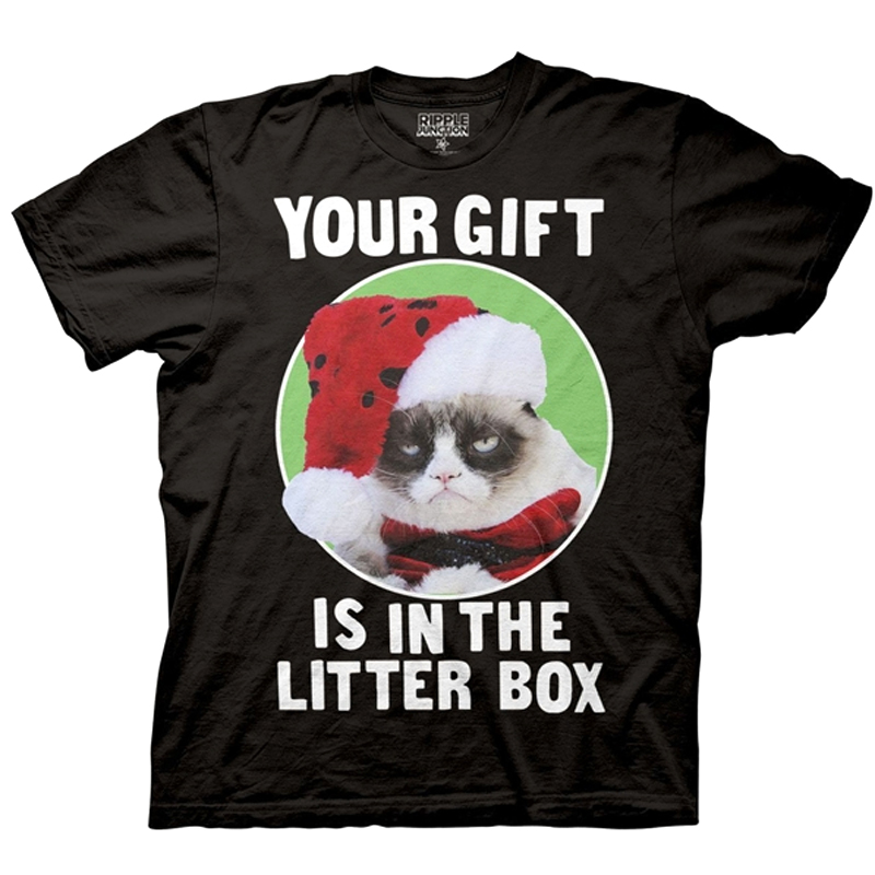 Gag Gifts - Grumpy Cat 'Your Gift is in the Litter Box' Shirt