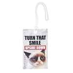 Grumpy Cat Luggage Tag Turn That Smile