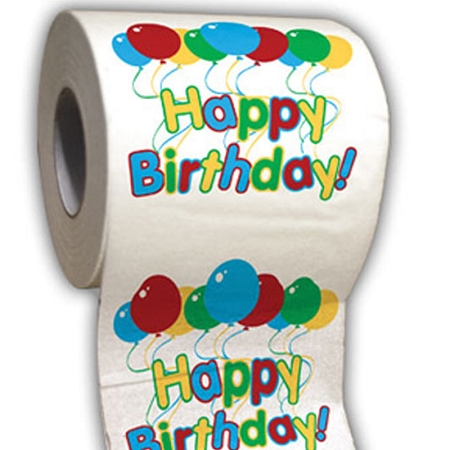 Gag Gifts - Happy Birthday Toilet Paper