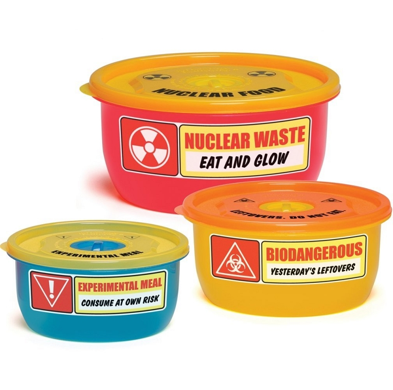 Gag Gifts - Hazardous Waste Food Containers