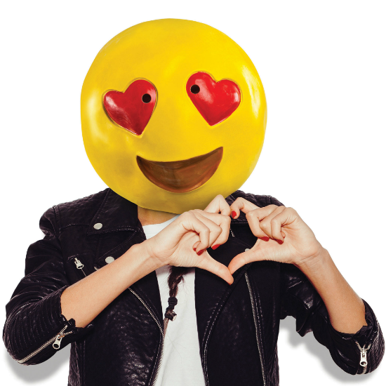 Gag Gifts - Heart Eye Emoji Mask