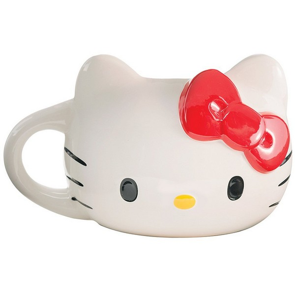 Gag Gifts - Hello Kitty Sculpted Ceramic Mug