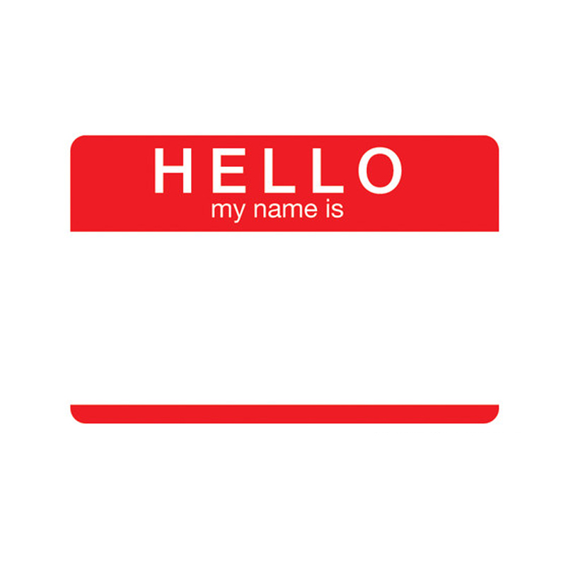 Gag Gifts - Hello My Name Is Tin Sign