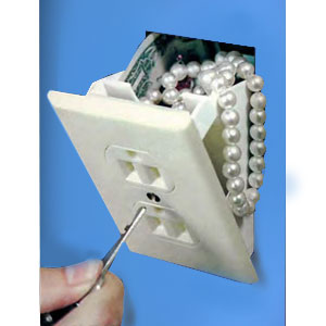 Gag Gifts - Hidden Wall Safe  - Electrical Outlet