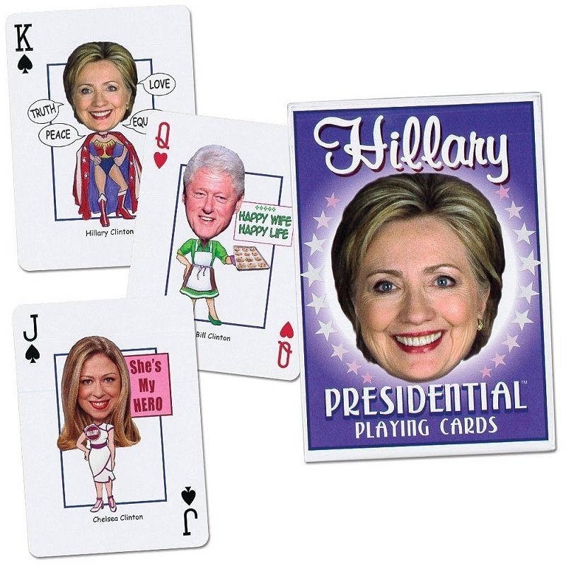 Gag Gifts - Hillary Presidential Playing Cards