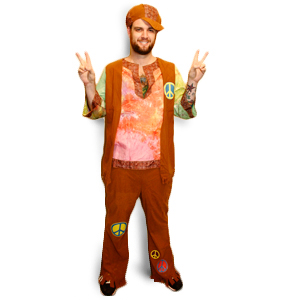 Gag Gifts - Hippie Guy Costume