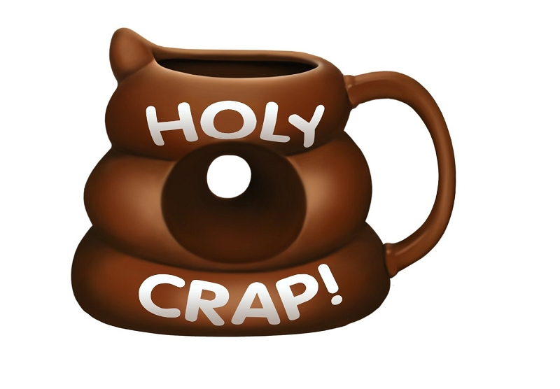 Gag Gifts - Holy Crap Mug