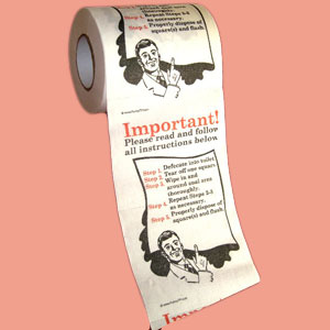 Gag Gifts - How To Wipe Toilet Paper