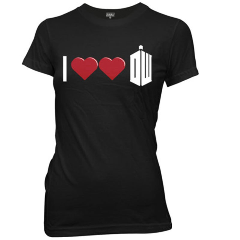 Gag Gifts - I Double Heart Doctor Who Junior T-Shirt