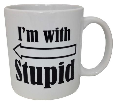 Gag Gifts - I'm With Stupid Mug