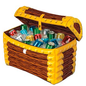 Gag Gifts - Inflatable Treasure Chest Cooler