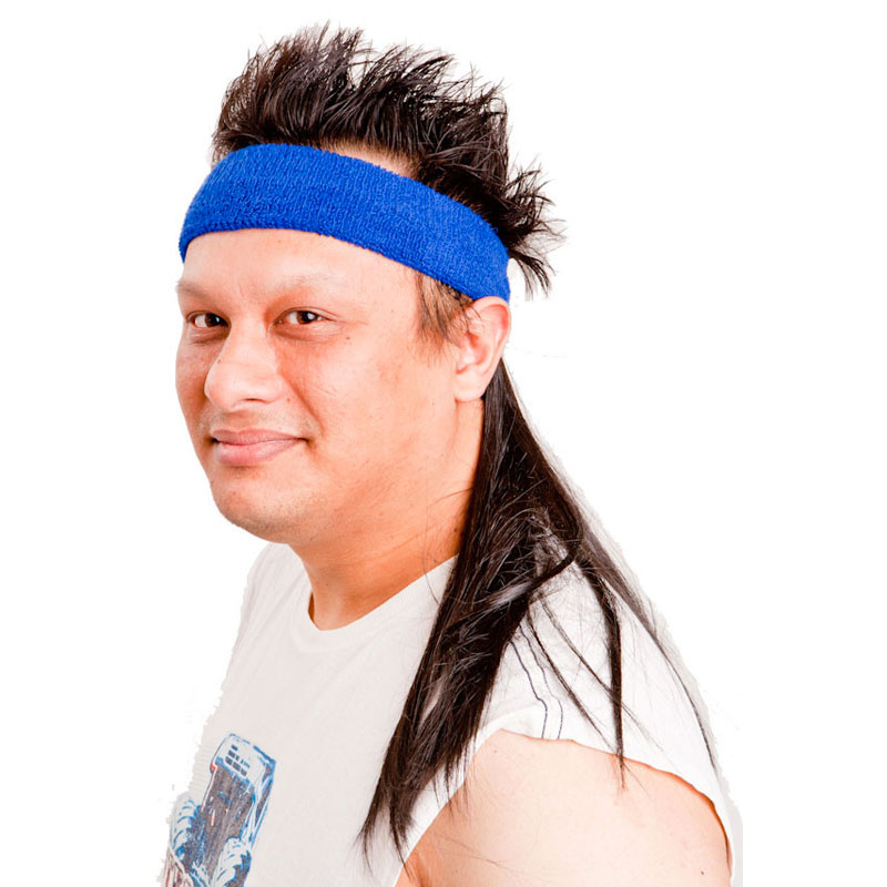 Gag Gifts - Instant Mullet w/ Headband: The Bobcat