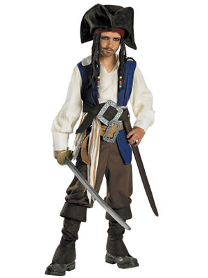 Gag Gifts - Jack Sparrow Costume - Teen and Child