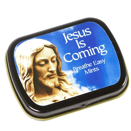 Gag Gifts - Jesus Is Coming, Breathe Easy Mints