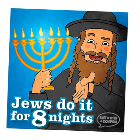 Gag Gifts - Jews Do It For 8 Nights Condom