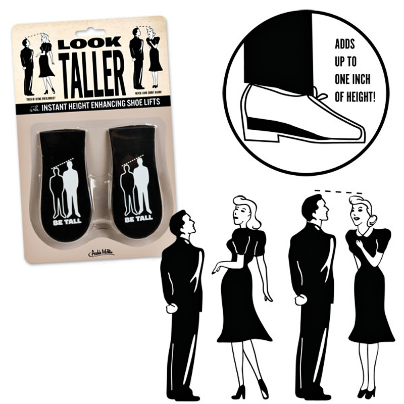 Gag Gifts - Look Taller Shoe Lifts