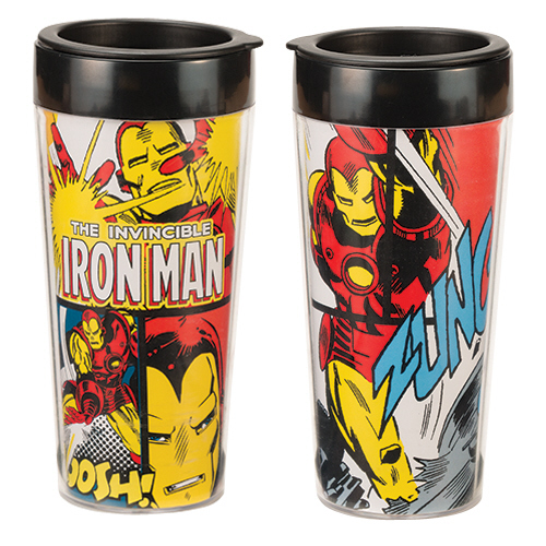 Gag Gifts - Marvel Iron Man 16 oz. Plastic Travel Mug