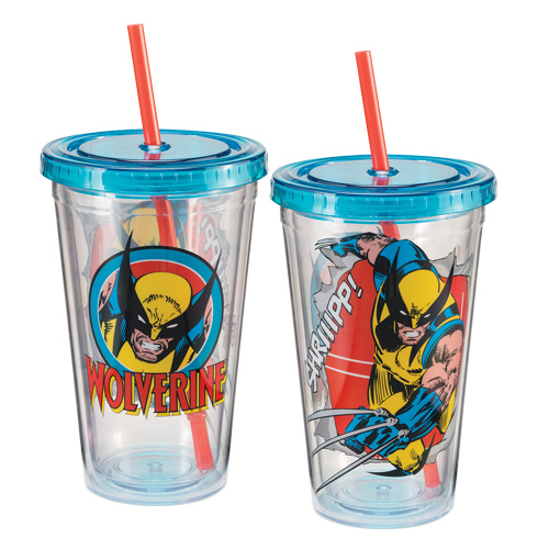 Gag Gifts - Marvel Wolverine 18 oz. Acrylic Travel Cup