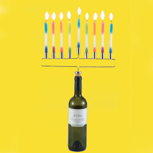 Gag Gifts - Menorah Bottle Cork