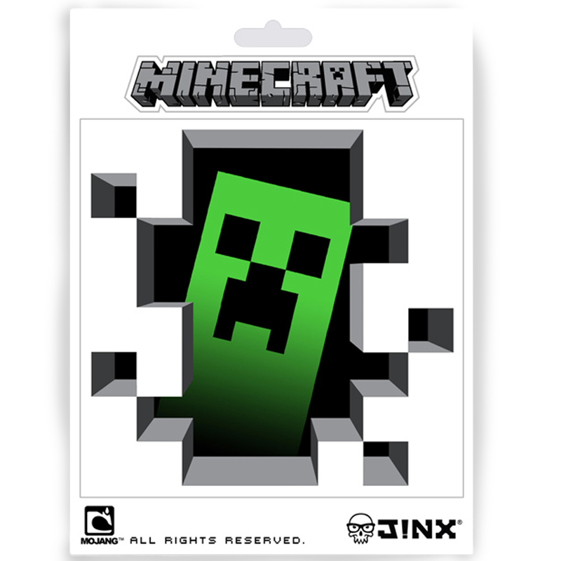 Gag Gifts - Minecraft: Creeper Inside the Block Sticker