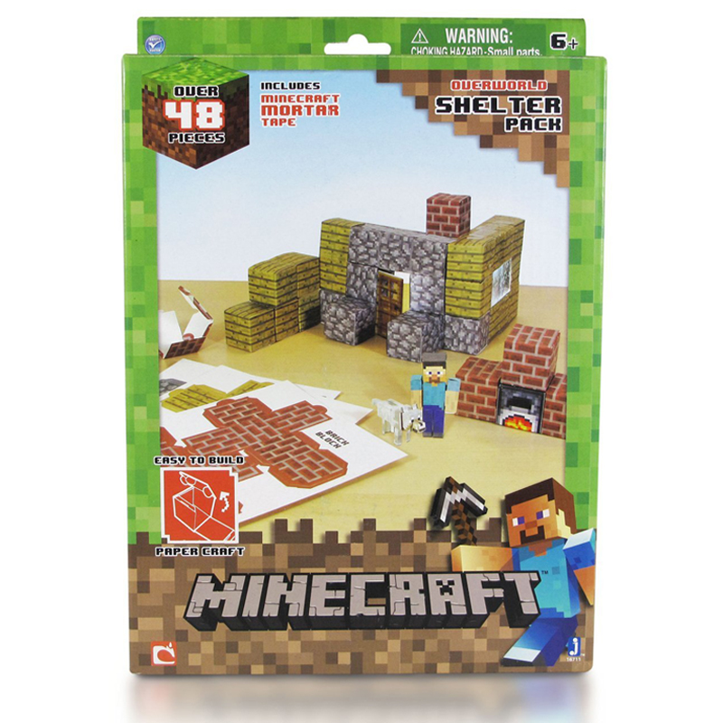 Gag Gifts - Minecraft: Paper Craft, Shelter Set