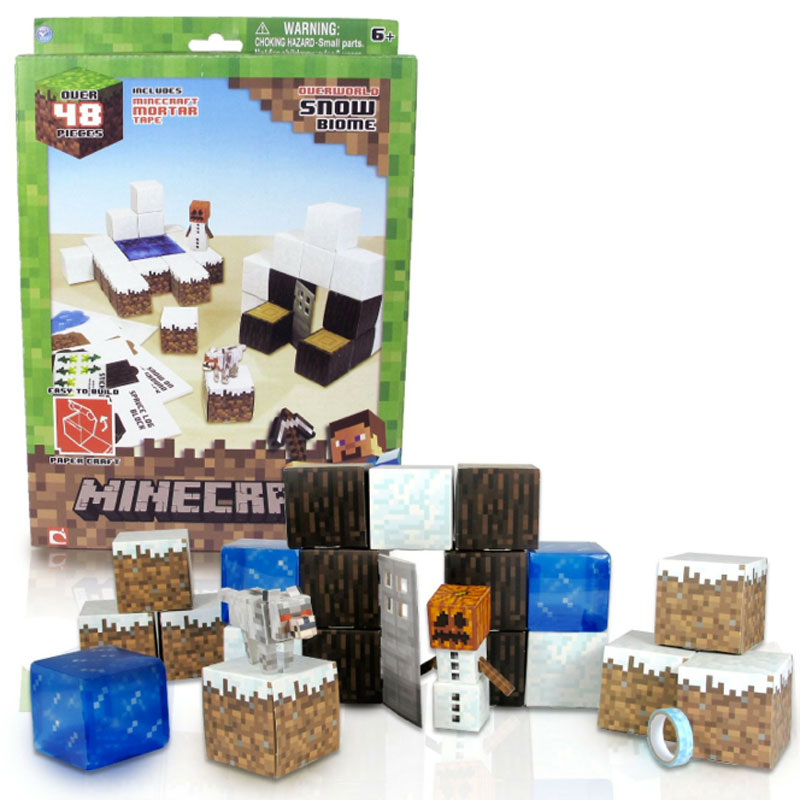 Gag Gifts - Minecraft: Paper Craft, Snow Set