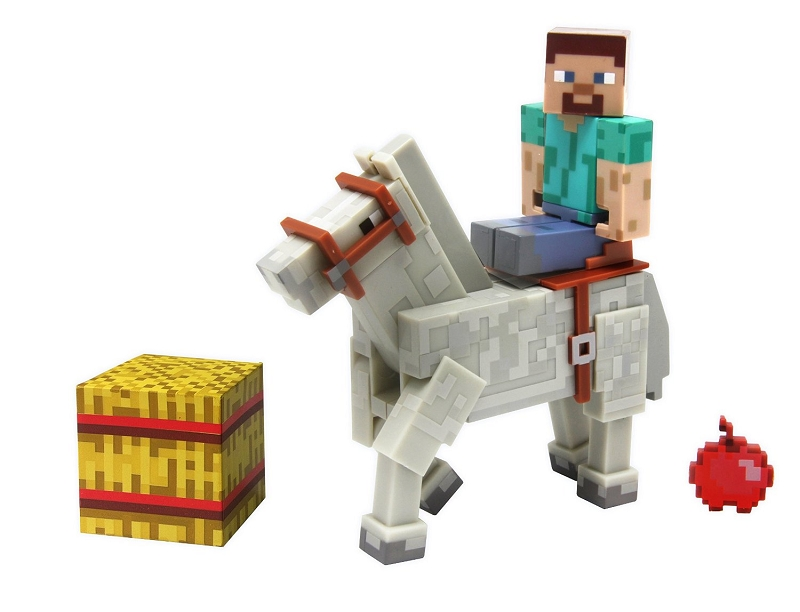 Gag Gifts - Minecraft, Steve with White Horse, 2 Pack