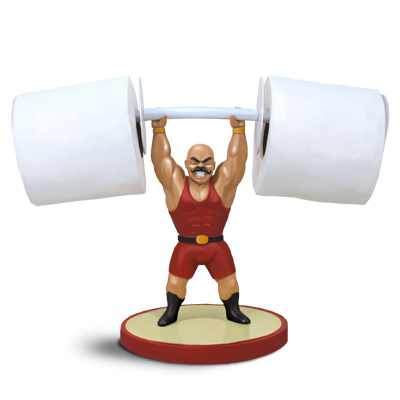 Gag Gifts - Muscle Man Toilet Paper Holder