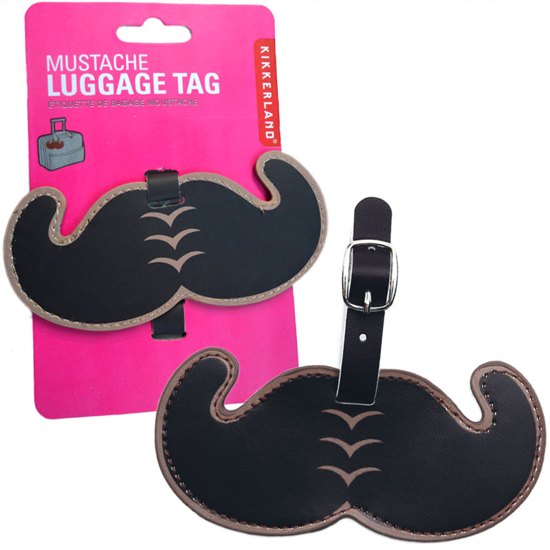 Gag Gifts - Mustache Luggage Tag