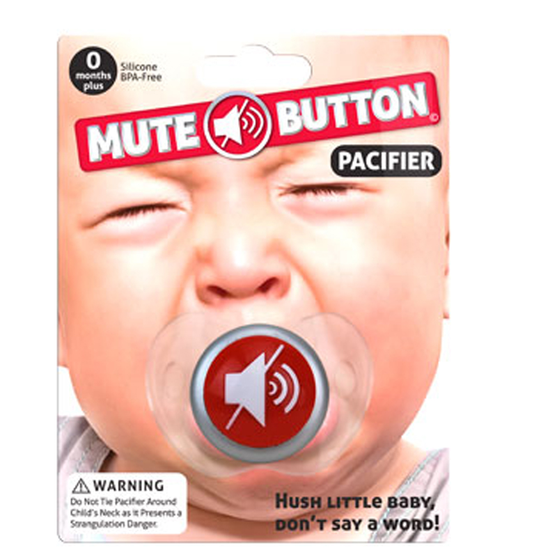 Gag Gifts - Mute! Pacifier