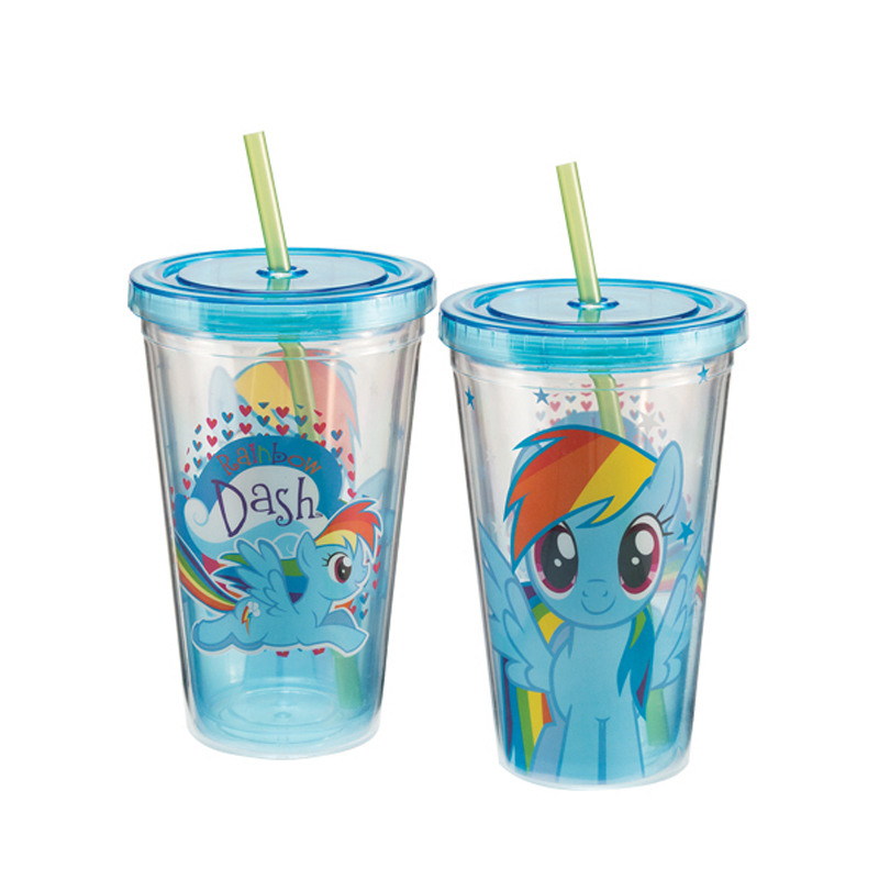 Gag Gifts - My Little Pony Rainbow Dash 18 oz. Acrylic Travel Cup