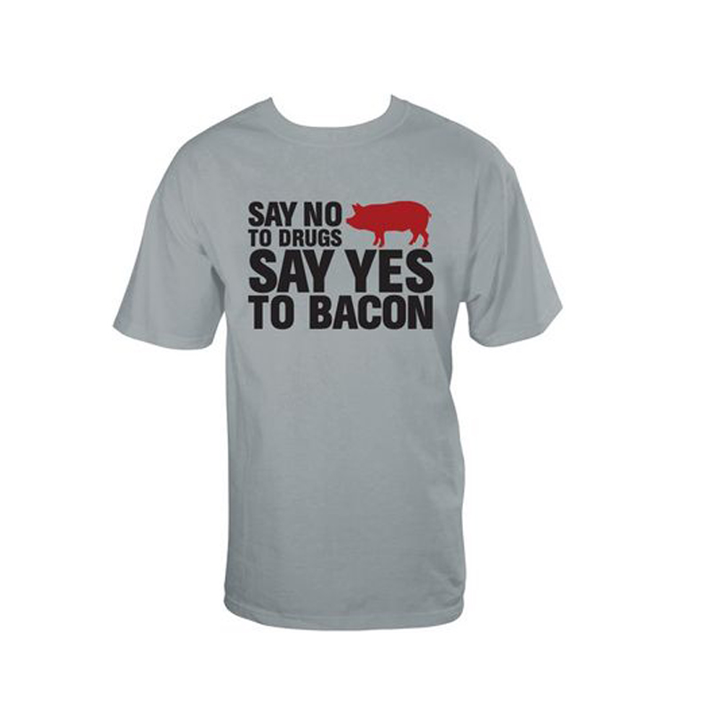 Gag Gifts - No Drugs, Yes Bacon T-Shirt, Black