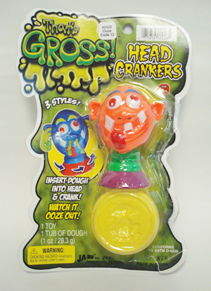 Gag Gifts - OOZE Play Dough Head Crankers