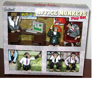 Gag Gifts - Office Monkey Play Set