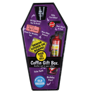 Gag Gifts - Over The Hill Coffin Gift Box