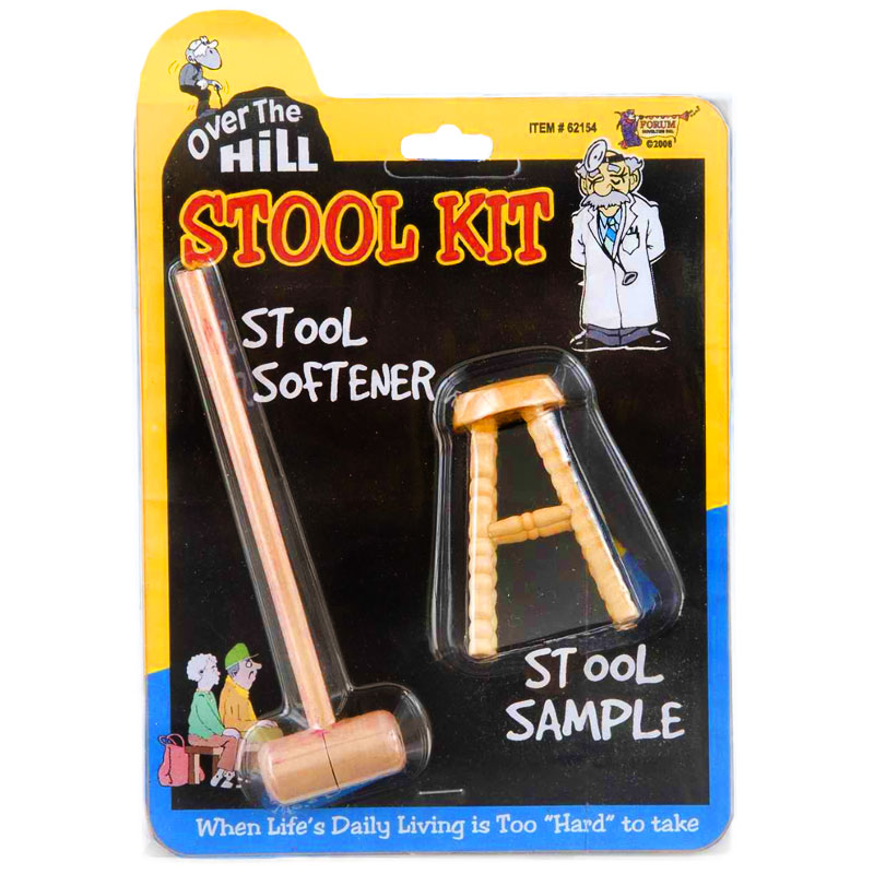 Gag Gifts - Over the Hill Stool Sample and Stool Softener