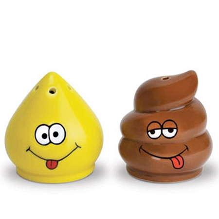 Gag Gifts - Pee and Poop Salt and Pepper Shaker Set