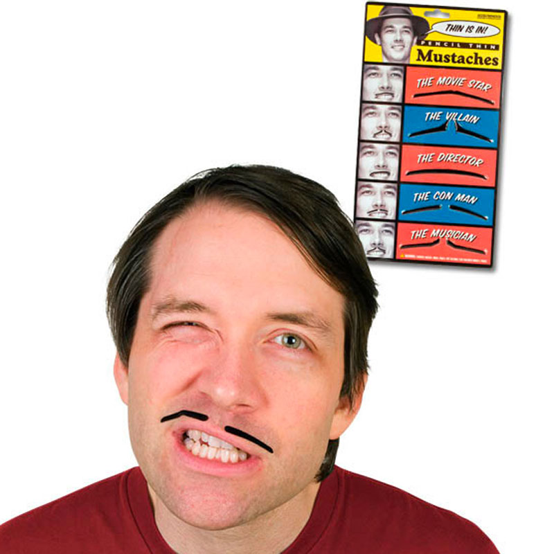 Gag Gifts - Pencil Thin Mustache Kit