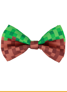 Gag Gifts - Pixel Bricks Bow Tie GRN/BRN