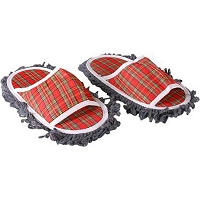 Plaid Mop Slippers