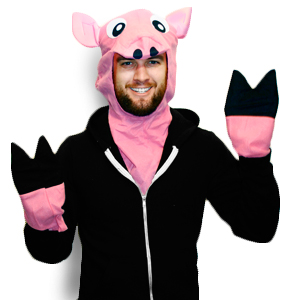 Gag Gifts - Plush Pig Costume Kit