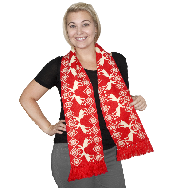 Gag Gifts - Pooping Moose Holiday Scarf
