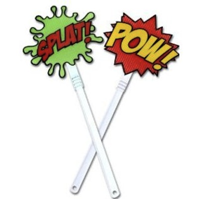 Gag Gifts - Pow and Splat Fly Swatter Set