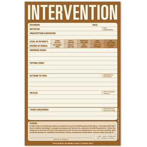 Gag Gifts - Prank Intervention Notepad