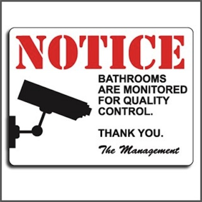 Gag Gifts - Prank Sign Bathrooms Are Monitored