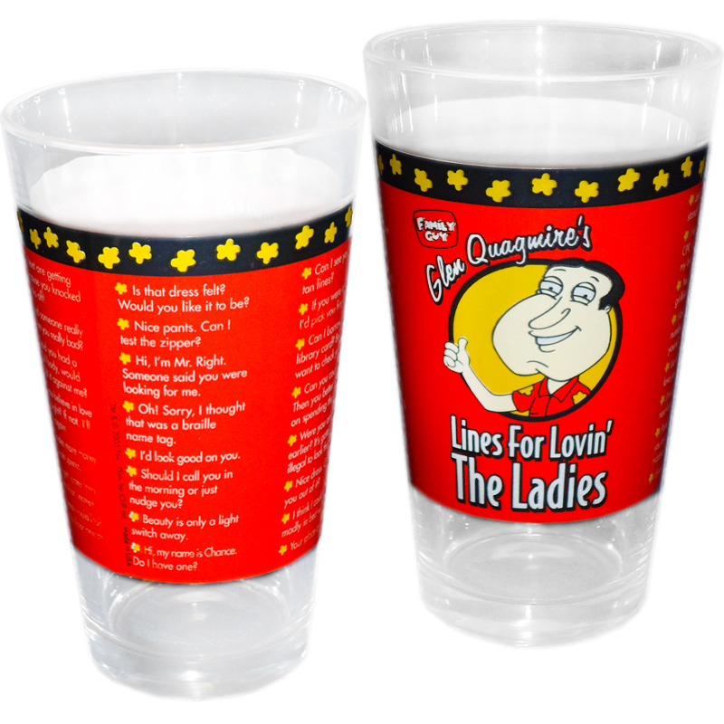 Gag Gifts - Quagmire's Love For the Ladies Pint Glass